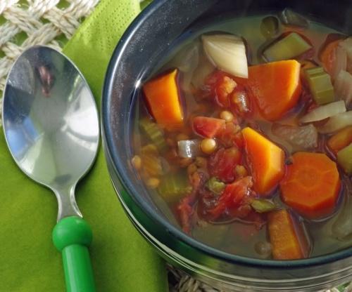 Lentil-Veggie Soup (Crock Pot)